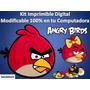 Kit Imprimible Angry Birds Fiesta Cumpleaños Torta Recuerdo