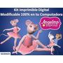 Kit Imprimible Angelina Ballerina Cumpleaños Fiestas Tortas