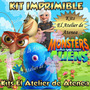 Kit Imprimible Monstruos Vs Aliens Invitaciones Y Más