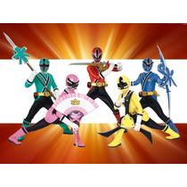 Kit Imprimible 2x1 Power Rangers Cotillón Candy Invitaciones