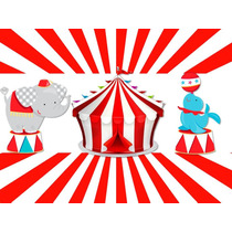 Kit Imprimible 2x1 Circo Payasos Cotillón Candy Invitaciones
