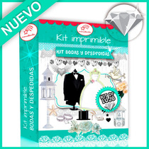 Kit Imprimible Bodas Casamientos Candy Bar