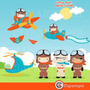Kit Imprimible Piloto Aviones Imagenes Clipart