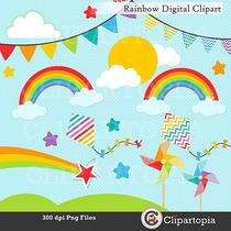 Kit Imprimible Arcoiris Imagenes Clipart