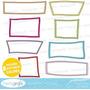 Kit Imprimible Pack Frames Etiquetas Label 4 Clipart