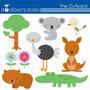 Kit Imprimible Animalitos De La Selva 8 Imagenes Clipart
