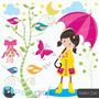 Kit Imprimible Dia De Lluvia Imagenes Clipart