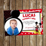Kit Imprimible Tarjeta De Invitación Cumpleaños Mickey