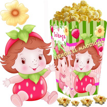 Kit Imprimible Frutillita Bebe Candy Bar Y Cotillon 2x1
