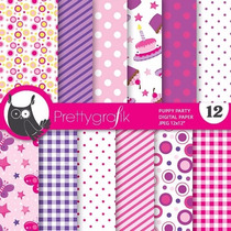 Kit Imprimible Pack Fondos Lilas Violeta 2 Clipart
