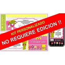 Kit Imprimible Sapa Pepa Para Nenas Personalizado