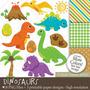 Kit Imprimible Dinosaurios 6 Imagenes Clipart