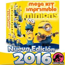 Minions Mega Kit Imprimible Minions Mi Villano Favorito 3en1