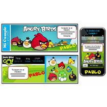 Kit Imprimible Angry Birds: Invitaciones, Candy, Deco, Torta