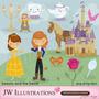 Kit Imprimible Princesa Bella Y La Bestia 4 Imagenes Clipart