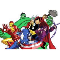 Kit Imprimible De Los Vengadores The Avengers - Tarjetas Y +