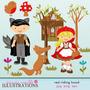 Kit Imprimible Caperucita Roja 6 Imagenes Clipart