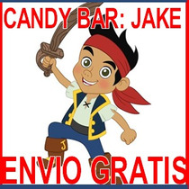 Kit Imprimible Jake Y Piratas Candy Bar Golosinas