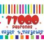 Kit Imprimible 11000 Patrones Tarjetas Cajas Marcos Fondos