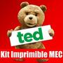 Kit Imprimible Oso Ted Bear Edicion 2015 Completo 2x1