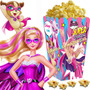 Kit Imprimible Barbie Super Princesa Candy Bar Cotillon 2x1