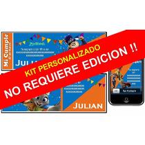 Kit Imprimible De Zootopia Personalizado 100%