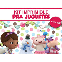 Kit Imprimible Candy Bar Doctora Juguetes 2 Golosinas Candy