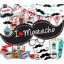 Kit Imprimible Fiesta Mostacho Textos Editables