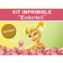 Kit Imprimible Editable Tinkerbell Campanita, Stickers Candy