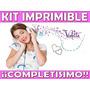 Kit Imprimible Violetta Cumpleaños Tarjetas Candy Bar Y Mas
