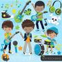 Kit Imprimible Rock Stars 7 Imagenes Clipart