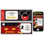Kit Imprimible De Mickey Rojo: Candy Bar, Deco, Torta