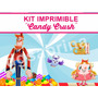 Kit Imprimible Candy Crush, Golosinas Stickers, Candybar 2x1