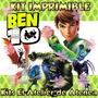 Kit Imprimible Ben 10 Diseñá Tarjetas , Cumpleaños Y Mas 2x1