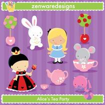 Kit Imprimible Alicia El Pais De Las Maravillas 5 Imagenes