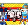 Kit Imprimible Transformers Rescue Bots Diseña Tarjetas 1