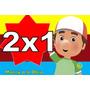Kit Imprimible Manny A La Obra Tarjetas Cumpleaños 2x1