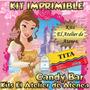 Kit Imprimible Candy Bar Princesa Bella Y La Bestia
