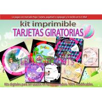 Kit Imprimible Tarjeta Giratoria Bodas Comunion Cumpleaños