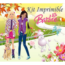Kit Imprimible Barbie Carteles Invitaciones Tarjetas Marcos
