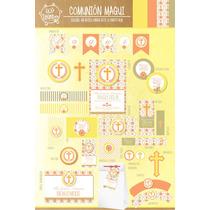 Kit Imprimible Personalizado Primera Comunion Candy Y Deco!