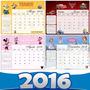 Kit Imprimible Calendarios 2016 Almanaques, Cupcakes Y Mas!