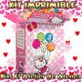 Kit Imprimible Hello Kitty Diseñá Tarjetas Cumples Y Mas 2x1