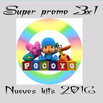 Kit Imprimible Pocoyo Cumple+candy+imagenes+ Fondos Y Mas