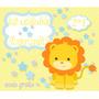 Kit Imprimible Leon Bautismos Primer Añito Nene Baby Shower