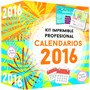 Calendarios 2016 Kit Imprimible Almanaques - Envio Gratis !!