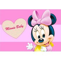Kit Imprimible Minnie Mouse Bebe Rosa Tarjetas Recuerdos