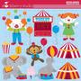 Kit Imprimible Circo Payasos 3 Imagenes Clipart