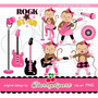 Kit Imprimible Rock Stars 8 Imagenes Clipart