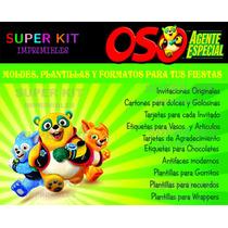 Kit Imprimible Oso Agente Especial Diseñá Tarjetas Y Mas2